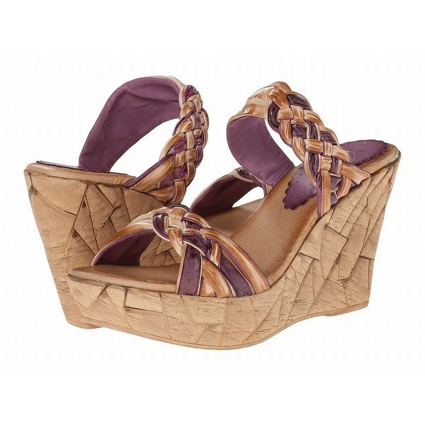 Azura NEW Brown Shoes Size 8M Platforms & Wedges Leather Heels