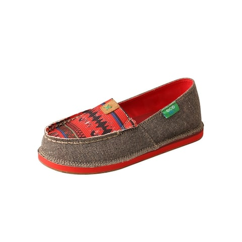 Twisted X Casual Shoes Kids Loafer ECO TWX Print Dust Red