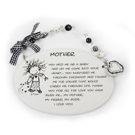 Mother, You Held Me as a Baby Plaque by Children of the Inner Light - 6.0 in. x 4.0 in.