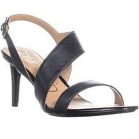 Calvin Klein Lancy Strap Slim Heel Sandals, Black