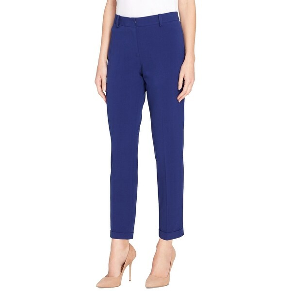 3aef7ba14 Shop Tahari by ASL Blue Womens Size 12 Ankle Flat-Front Dress Pants - On  Sale - Free Shipping On Orders Over $45 - Overstock - 26986833