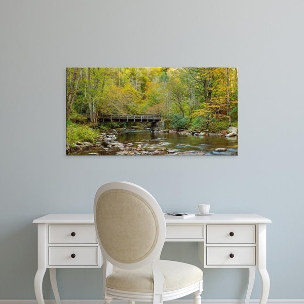 Easy Art Prints Panoramic Image 'Deep Creek, Great Smoky Mountains National Park, North Carolina' Canvas Art