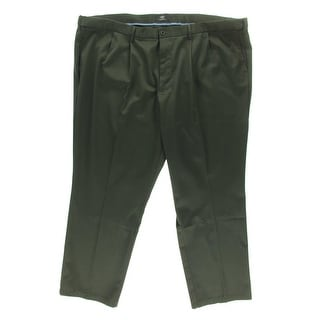 Dockers Mens Classic Fit Double Pleat Khaki Pants