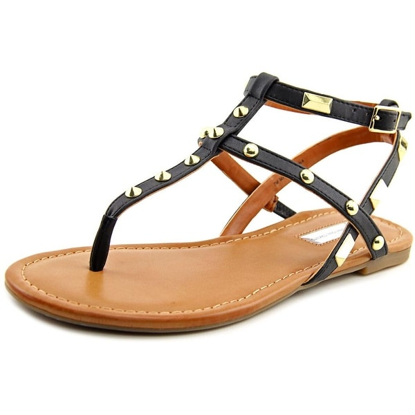 INC International Concepts Mirabai 2 Women Open Toe Synthetic Black Thong Sandal