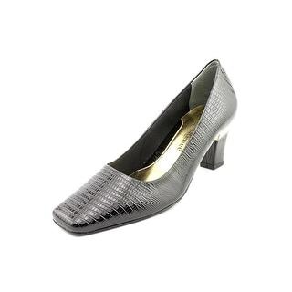J. Renee Mary Women W Square Toe Synthetic Black Heels