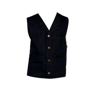 Scully Western Vest Boys Kids 100% Cotton Canvas Button
