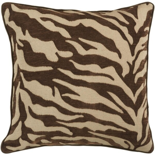 "22"" Brown and Beige Hot Animal Print Decorative Throw Pillow"