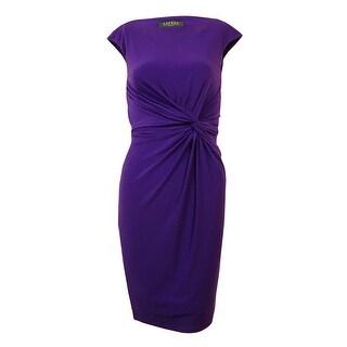Lauren Ralph Lauren Women's Sleeveless Faux Knot Jersey Dress (Option: 18)