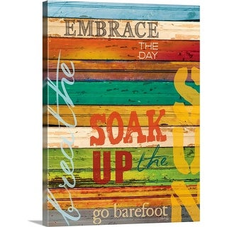 """""""Embrace the Day"""" Canvas Wall Art"""