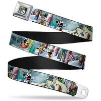 Yodelberg Mickey Full Color Mickey & Minnie Yodelberg Scenes Webbing Seatbelt Belt
