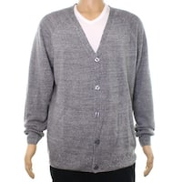 Weatherproof Gray Mens Size Medium M Button Down Cardigan Sweater