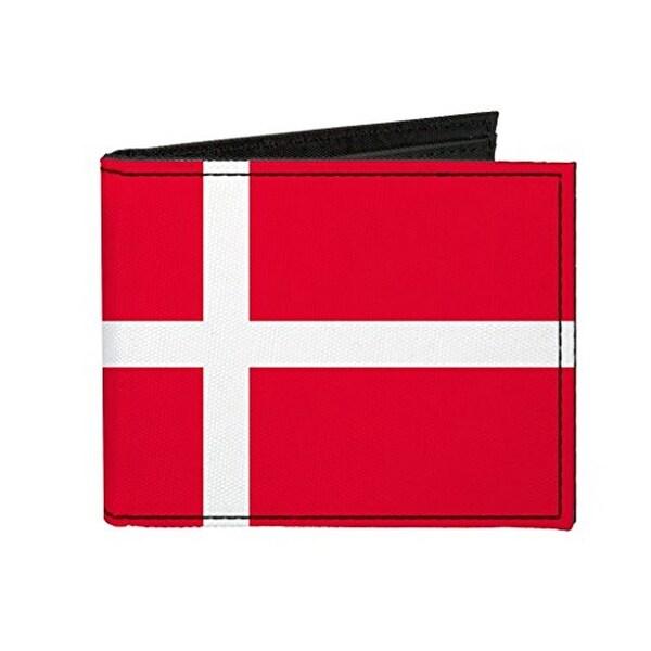 Buckle-Down Canvas Bi-fold Wallet - Denmark Flag Accessory