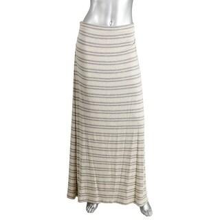 Studio M Womens Heathered Striped Maxi Skirt - L