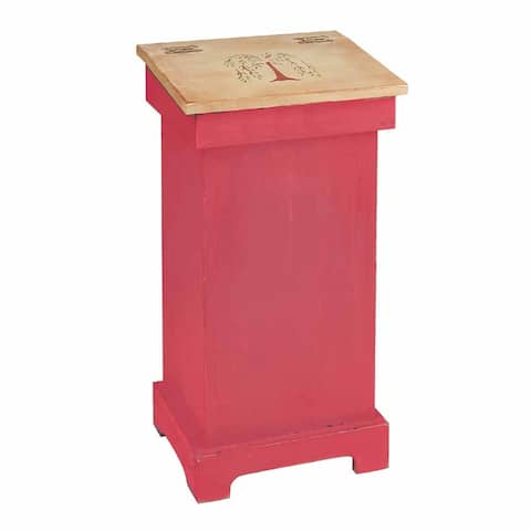 Kitchen Storage Red/Nature Wood Tree of Life Bin 25.5 x 20 Renovator's Supply
