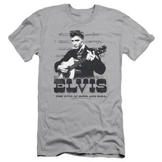Elvis The King Of Rock n Roll Mens Slim Fit Shirt