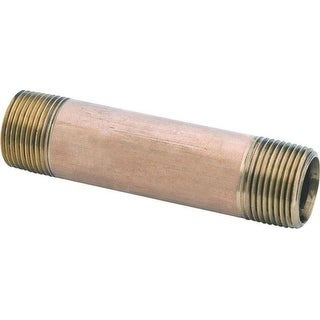 """Anderson Metals 38300-0430 Red Brass Pipe Fitting, 1/4"""" x 3"""""""