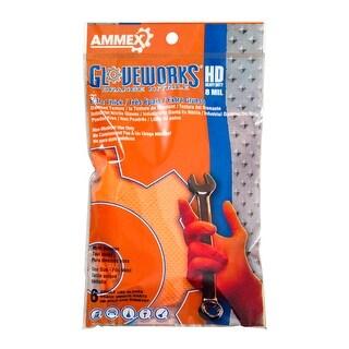 GLOVEWORKS Orange Nitrile Latex Free Disposable Gloves (Pack of 6 gloves) - Uni