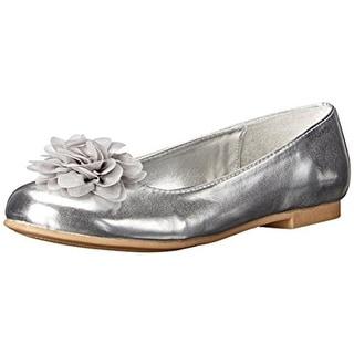 Nina Girls Delta2 Metallic Faux Leather Ballet Flats