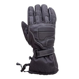 MOTORCYCLE EXTRA LONG GAUNTLET COWHIDE WATERPROOF RIDING GLOVES LINED BLACK MG8