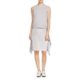 DKNY Womens Wear to Work Dress Drapey Mid-Calf