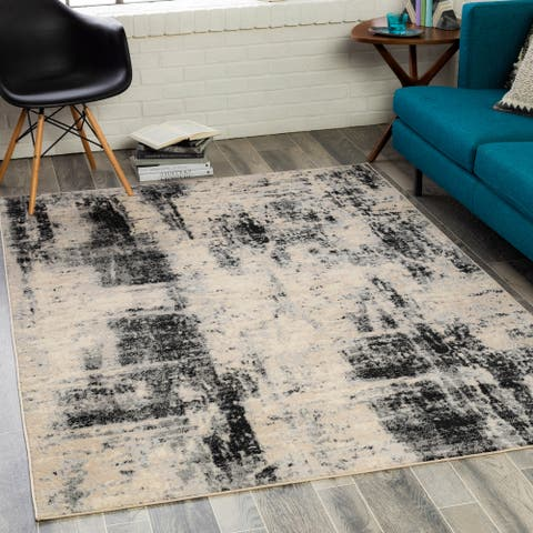 Enric Industrial Abstract Area Rug
