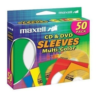 Maxell MXLCD401M Maxell CD-401 Multi-color CD/DVD Sleeves