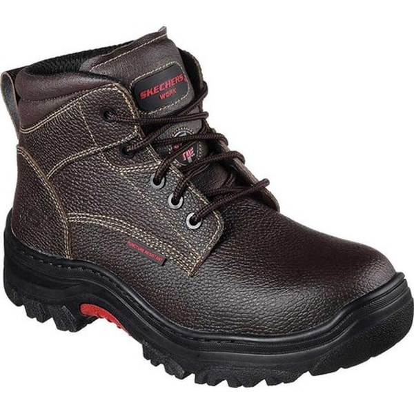 2b9ce0c7590a9 Shop Skechers Men's Work Burgin Tarlac Steel Toe Boot Brown - On ...