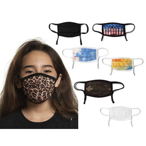 Sportsman Youth Maverick Adjustable Unisex Comfort Face Masks - 4 pack - OS