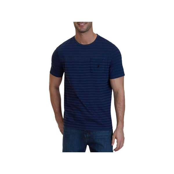 e1c19737e7 Shop Nautica Mens T-Shirt Striped Crew Neck - Free Shipping On Orders Over  $45 - Overstock - 22485781