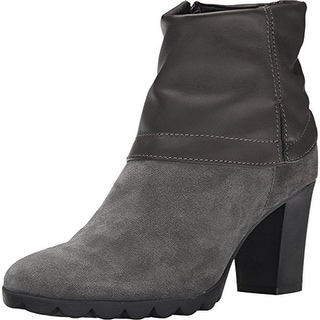 The Flexx Womens Dip Rock Ankle Boots Suede Cuffed