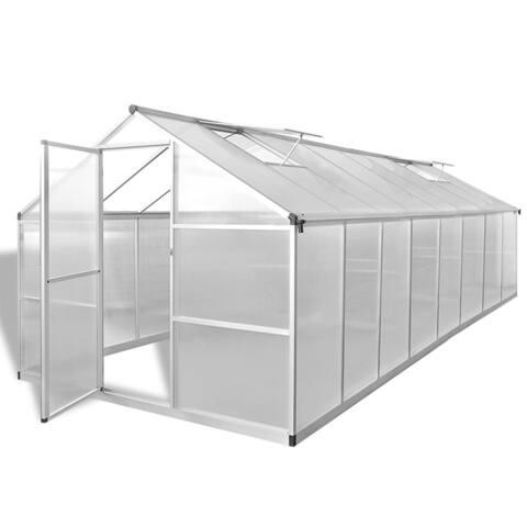 """vidaXL Greenhouse Aluminium 189.4""""x98.4""""x76.8"""" 827.8 ft³"""