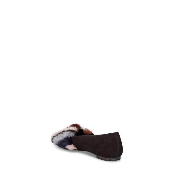 Rebecca Minkoff Womens Amelie Faux Fur Mules, Black, Size 8.0 - 8