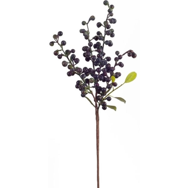 "Club Pack of 24 Holiday Indoor Purple Berry Pick 18.5""H"