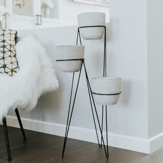 """Link to 36"""" Tall 3-TIER LAVA White CEMENT POTS Similar Items in Outdoor Decor"""