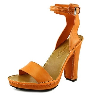 Tod's AGO T.120 Po Sandalo Women Open Toe Leather Orange Sandals