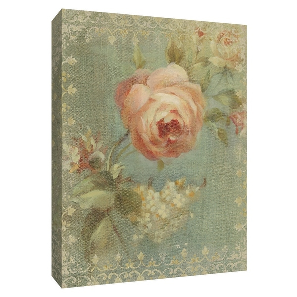 """PTM Images 9-154571 PTM Canvas Collection 10"""" x 8"""" - """"Rose on Sage"""" Giclee Roses Art Print on Canvas"""