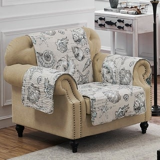 Link to Barefoot Bungalow Cruz Reversible Armchair Protector Similar Items in Slipcovers & Furniture Covers