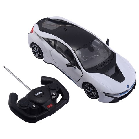 Costway 1:14 BMW I8 Licensed Radio RC Car Remote Control w/Opening Vertical Door White