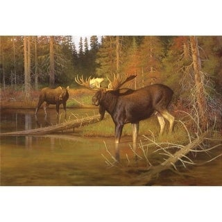 Custom Printed Rugs DM 62 Lambson Moose Intruder Moose