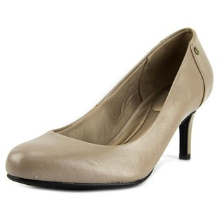 Life Stride Lively Women Round Toe Synthetic Gray Heels