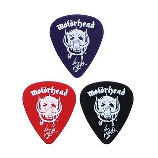 Motorhead Collectible Warpig Guitar Picks, Set of 3 - multi