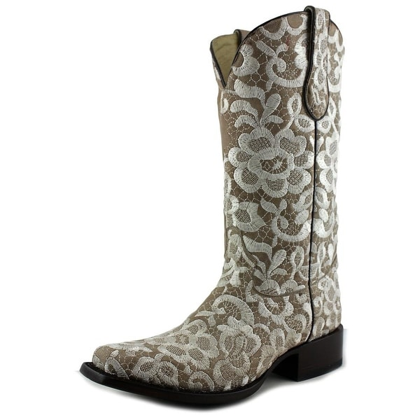 Corral G1197 Women Round Toe Leather Tan Western Boot