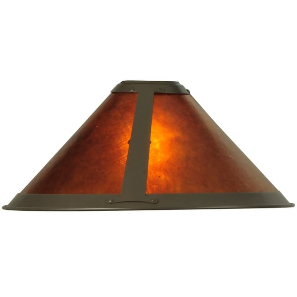 """Meyda Tiffany 25962 15"""" W Van Erp Amber Mica Torchiere Replacement Shade - amber mica"""