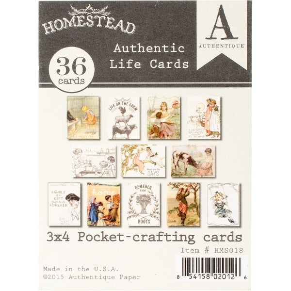 "Homestead Authentic Life Cards-Pocket Crafting & Journaling 3""X4"" Cards"