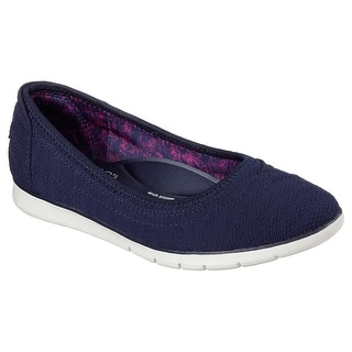 BOBS from Skechers Women's Pureflex Skimmer Flat, Navy