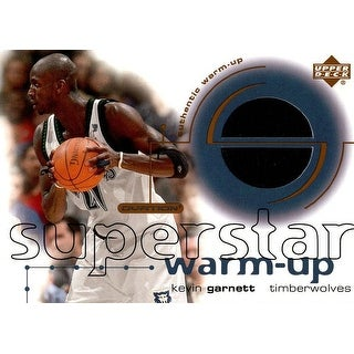 Signed Garnett Kevin Minnesota Timberwolves Kevin Garnett 200102 Upper Deck Superstar Warmup Jersey