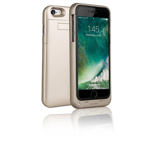 Indigi® Elegant Gold Rechargeable Protective Battery Case for iPhone 7 - 3200mAh