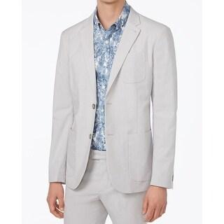 Penguin NEW Gray Mens Size XL Two Button Slim Fit Micro Stripe Blazer