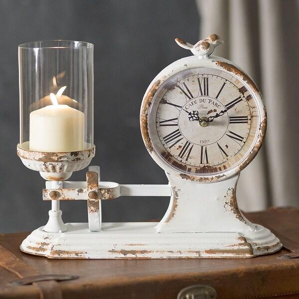 """""""Café Du Parc"""" Candle holder and Clock"""