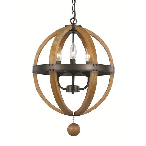 Trans Globe Lighting 70600 Forest Home 3 Light Globe Pendant - Weathered Bronze